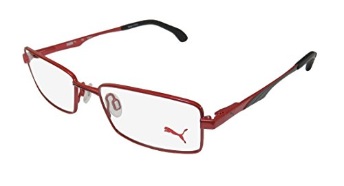 Puma 15419 Mens/Womens Spring Hinges Must Have Two-tone Hard Case Sleek TIGHT-FIT Designed For Weight Lifting/Yoga/Sports Activities Eyeglasses/Eyewear (49-16-140, ()