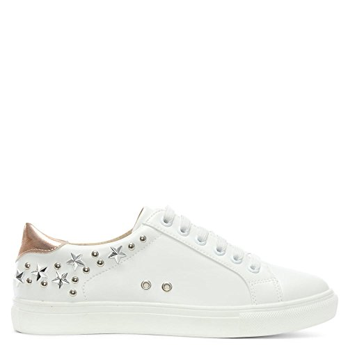 Df By Daniel Tecton Blanc Star Sneakers Embelli White Leather
