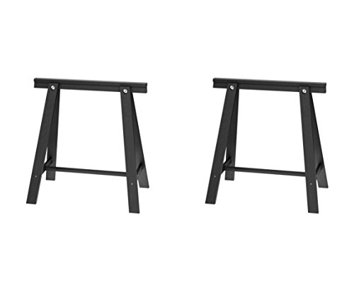 IKEA ODDVALD Trestle, Black – 2 Pack [2 Individual Units Included]