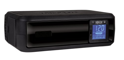 Tripp Lite 650VA UPS Battery Back Up, 350W, Rack-Mount/Tower, LCD Display, AVR, USB, DB9 (OMNI650LCD)