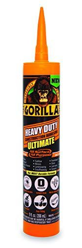 Gorilla 8008002 Ultimate Construction Adhesive, 1-Pack, White (Glue Pl)