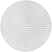 """Darice Plastic Canvas Shape 7 Count 12/""""X17.5/""""-Oval Clear"""