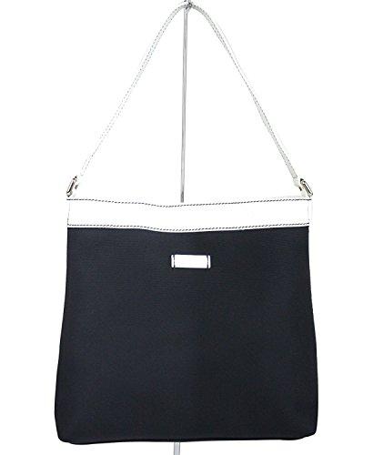 Gucci Navy Guccissima Leather Trim Meier Hobo Handbag 254639 (Guccissima Hobo)