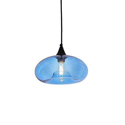 Mirrored Glass 1Light Pendant Lamp with 1 Vintage Edison