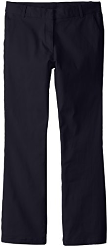 Izod Big Girls' Slim Fit Stretch Skinny Bootcut Uniform Pant ,Navy,12.5 Plus by IZOD