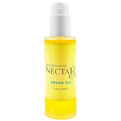 Essential Nectar 100% Organic, Cold Pressed, Pure, Moroccan Argan Oil, 3.4 fl oz