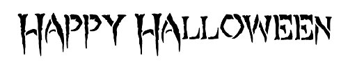 Happy Halloween - Creepy - Word Stencil - 20