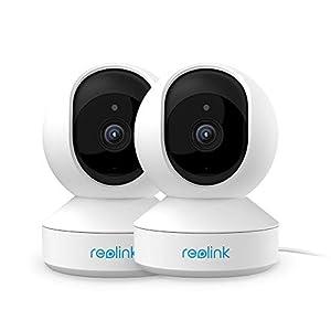 Reolink 3MP Super HD Caméra de Surveillance Intérieure sans Fil, Caméra IP WiFi 2,4 GHz, Caméra de Sécurité Pan et Tilt…