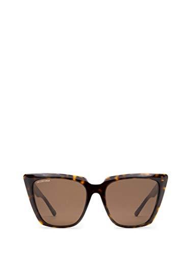 Luxury Fashion | Balenciaga Woman BB0046S002 Brown Acetate Sunglasses | Season Permanent