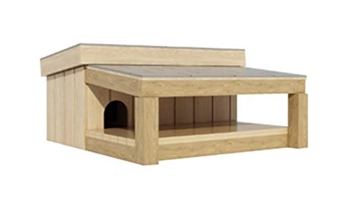 Dog House with Covered Porch Plans DIY Pet Puppy Outdoor Shelter Kennel Small