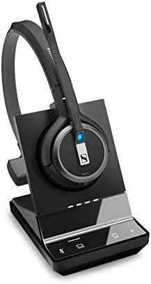 Sennheiser SDW 5034 (507008) - Single-Sided (Monaural) Wireless DECT Headset for Softphone/PC & Mobile Phone Connection Dual Microphone Ultra Noise Cancelling Black