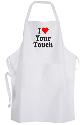 I Love Your Touch – Adult Size Apron - Love Couple Relationship Marriage Wedding by Aprons365