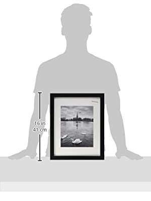 11x14 Photo Wood Frame with Mat for 8x10 Picture by Golden State Art