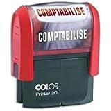 Colop Comptabilise Timbre à encrage automatique Empreinte Rouge 38x14 mm