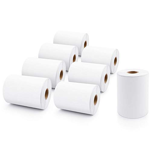 8 Rolls Compatible Dymo 1744907 4'' x 6'' Extra Large White Shipping Label Paper for LabelWriter 4XL Printer 220 per Roll by MarkDomain