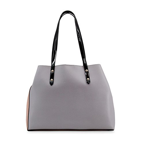 Shoulder Designer Bag Genuine Women Blu Byblos Pink EPWCq0Cfw