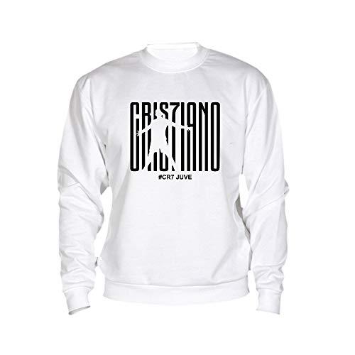 Logo Juve Nero Cristiano Ronaldo Spotapplick Nera Felpa Girocollo Calcio Cr7 XqnvwX0OxT