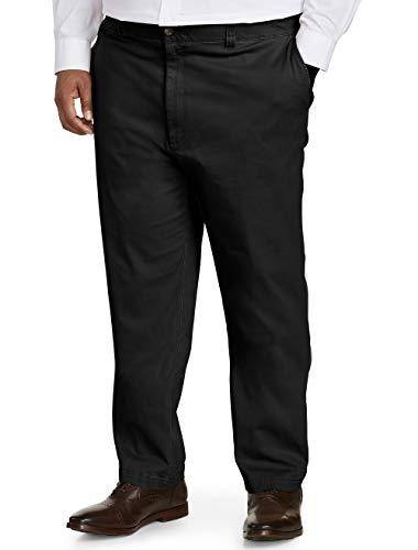 (Amazon Essentials Men's Big & Tall Athletic-fit Casual Stretch Khaki Pant fit by DXL, Black, 60W x 30L)