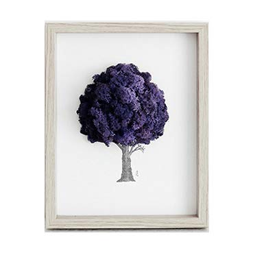 Reindeer Moss Frame for Air Purification Function Purple Color by ReinD Moss tree