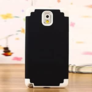 Silicone + PC Double Color Protective Case For Samsung Galaxy Note 3 --- Color:Black+White
