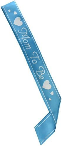 Beistle 60525-P Mom to be Satin Sash, 33-Inch by 4-Inch