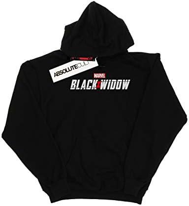 Marvel Herren Black Widow Movie Logo Kapuzenpullover Schwarz XXXX-Large
