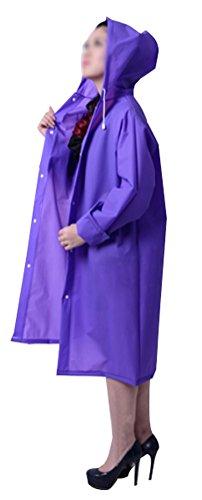 Mujer Para Impermeable Abrigo Amss Morado Chaqueta q7wBWF8