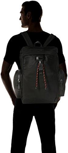 HUGO Herren Capital_backpack Schultertasche, Schwarz (Black), 16x43x27 cm