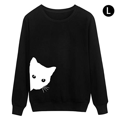 cherrysong Sweater Leisure Loose Round Neck Long Sleeve Top for Female