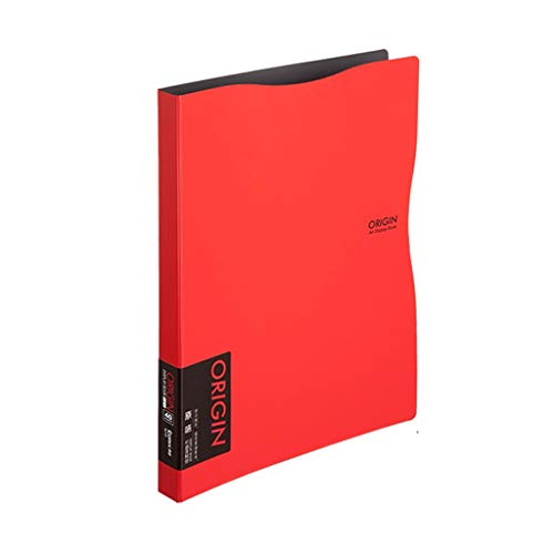 - Folders File Information Book A4 Insert Multi-Layer Transparent Leaflet Office Supplies (Color : Red, Size : 30 Pages)