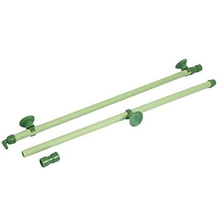 eDealMax acuario ventosa tubo de burbuja de aire de Piedra pared 28inch 2 en 1 Verde