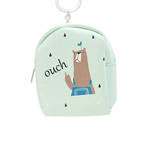 Cartera de Cuero Llavero, Holacha Mini Monodero Clutch Forma de Mochila Backpack Lindo para Mujeres Chicas L