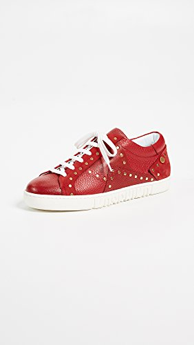 Sneakers Borchiate Donna Con Borchie Bordeaux