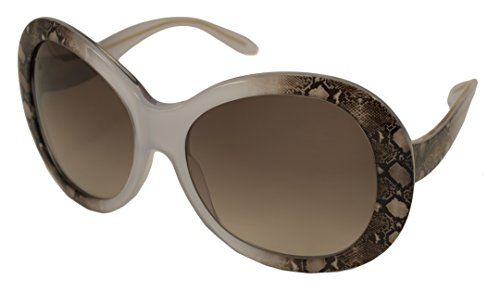 Roberto Cavalli Sunglasses - RC 734S Full Moon / Frame: Crystal with Brown Snake Skin Lens: Brown - Roberto Sunglasses Snake Cavalli