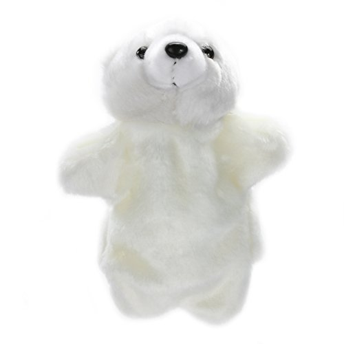 - Iainstars Animal Hand Puppet Cute Polar Bear Baby Kids for Imaginative Play Soft Doll Plush Toy