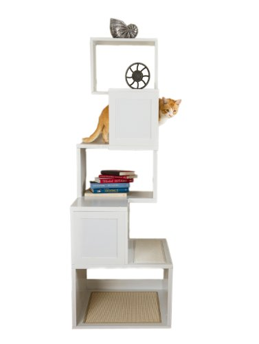 Sebastian Modern Cat Tree in White