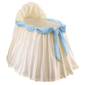 BabyDoll Swag Bassinet Liner/Skirt and Hood, Blue Sash, 16''x32'' by BabyDoll