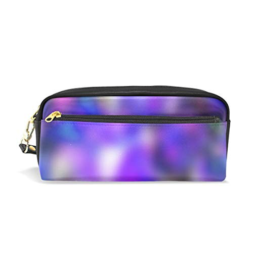 Pencil Case Stylish Print Flower Pattern Course Colorful Color Abstract Art Pattern Large Capacity Pen Bag Makeup Pouch Durable Students Stationery Two Pockets with Double Zipper (Countryside Quilts)