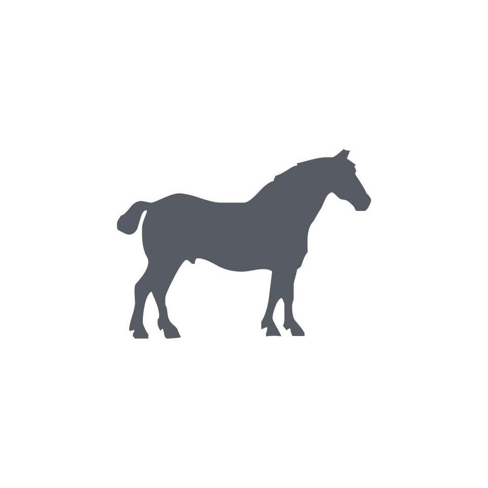 ThatVinylPlace 20 Cm Heigth By 20 Cm Max Dark Gray Horse Sticker, Vinyl, Decal, Car, Boat, Jokey, Pony, Horse, Tattoo, Car Decal, Car Sticker, Wall Sticker, Door, Window, Patio, Bedroom, Room, Kitchen _0032