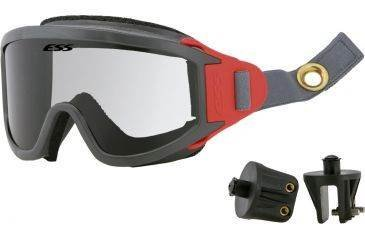ESS X-Tricator Ballistic Striketeam Safety Goggles Grey/Red/Clear ()