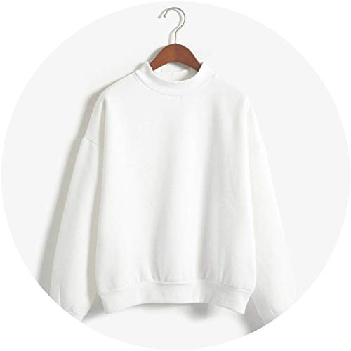 (Women Hoodies Sweatshirts Loose Turtleneck Hoodies Pullover Tracksuit Tops,XM31055white,XL)