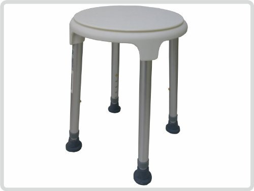 Badehocker Farbe:wei/ß Hocker Duschsitz Duschstuhl Duschhocker h/öhenverstellbar drehbar Duschschemel