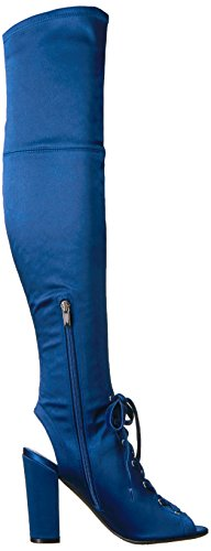 Calene Women's Knee Blue Boot Guess Over Satin The d5SzdxI