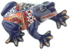 """Talavera Large Wall Frog - 7.75""""H x 5.50""""W (Blue Body)"""