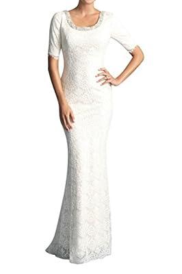 Angel Bride 2016 New Half-Sleeves Mermaid Lace Wedding Dress for Bride