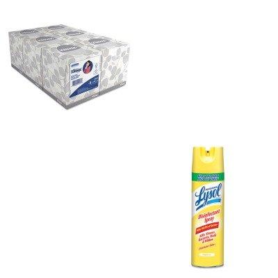 KITKIM21271RAC04650CT - Value Kit - Professional LYSOL Brand Disinfectant Spray (RAC04650CT) and KIMBERLY CLARK KLEENEX White Facial Tissue (KIM21271)