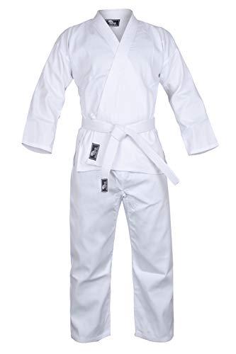 Hawk Sports Karate Uniform for Kids & Adults Lightweight Student Karate Gi Martial Arts Uniform Free Belt (White, 0 (4'3'' / 70lbs)) -