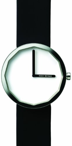 Issey Miyake Unisex Twelve Watch IM-SILAP001 With Black Leather Strap