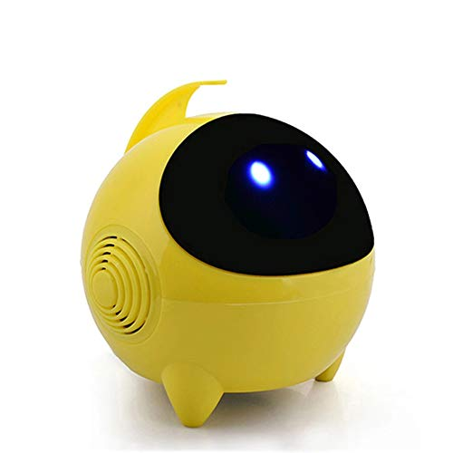 (SiFREE Music Box Speaker,Robot Speaker Spaceman Computer Small Speaker Notebook USB2.0 Cartoon Small Sound (Yellow))