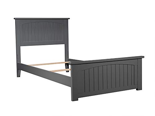 Atlantic Furniture AR8216039 Nantucket Traditional Bed, Twin XL, Grey ()